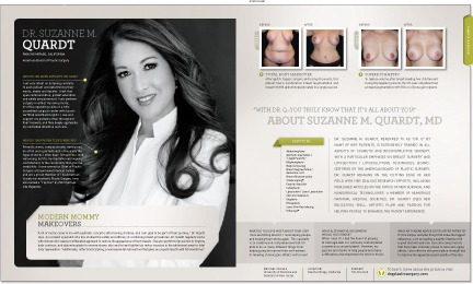 Dr. Suzanne M. Quardt featured New Beauty magazine. Dr. Suzanne M. Quardt featured in New Beauty magazine Palm Springs